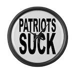 Patriots Suck Large Wall Clock