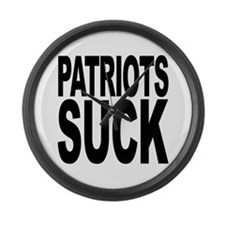 Patriots Suck Large Wall Clock