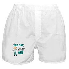 Bald 3 Teal (SFT) Boxer Shorts
