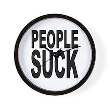 People Suck Wall Clock