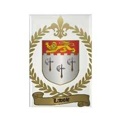 LAVOIE Family Rectangle Magnet (100 pack)