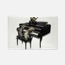 Piano with Three Ferrets Rectangle Magnet