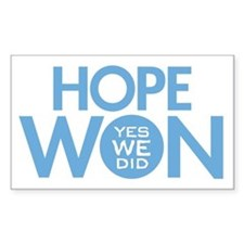 Hope Won Rectangle Decal