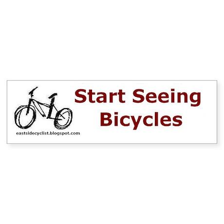 Start Seeing Bicycles Bumper Sticker