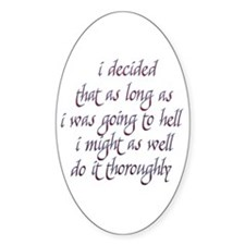 Twilight Edward Quotes Oval Decal