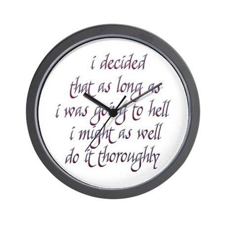 Twilight Edward Quotes Wall Clock