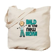 Bald 6 Teal (SFT) Tote Bag