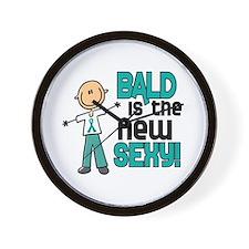 Bald 6 Teal (SFT) Wall Clock