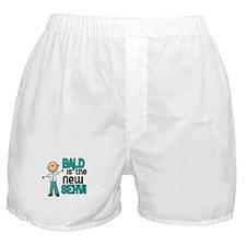 Bald 6 Teal (SFT) Boxer Shorts