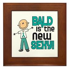 Bald 6 Teal (SFT) Framed Tile