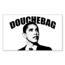 "Obama: ""Douchebag"" Rectangle Decal"