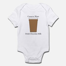 Conserve Water Drink Chocolate Milk Infant Bodysui