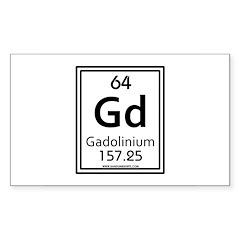 Gadolinium Rectangle Decal