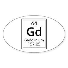 Gadolinium Oval Decal