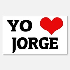 Amo (i love) Jorge Rectangle Decal