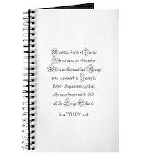 MATTHEW 1:18 Journal