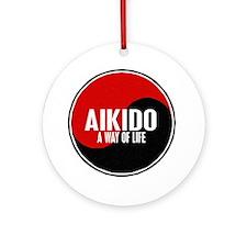 AIKIDO Way Of Life Yin Yang Ornament (Round)
