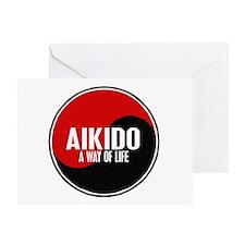 AIKIDO Way Of Life Yin Yang Greeting Card