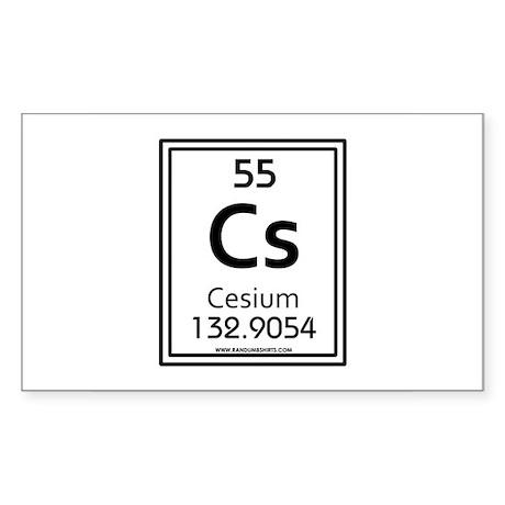 Cesium Rectangle Sticker