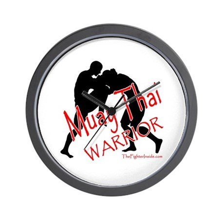 Muay Thai Warrior Wall Clock