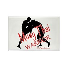Muay Thai Warrior Rectangle Magnet
