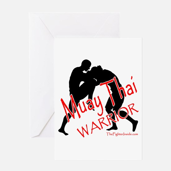 Muay Thai Warrior Greeting Card