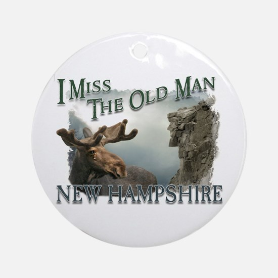 I Miss The Old Man w/Moose Ornament (Round)