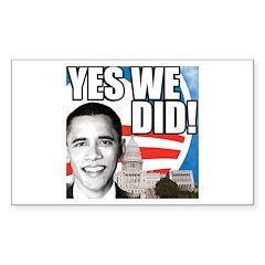 Obama Biden 2008 Rectangle Sticker 10 pk)
