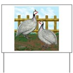 Lavender Guinea Fowl Yard Sign