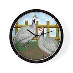 Lavender Guinea Fowl Wall Clock