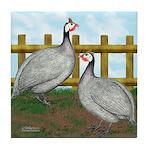 Lavender Guinea Fowl Tile Coaster