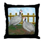 Lavender Guinea Fowl Throw Pillow