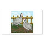 Lavender Guinea Fowl Rectangle Sticker 50 pk)
