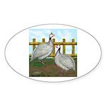 Lavender Guinea Fowl Oval Sticker (10 pk)