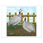 Lavender Guinea Fowl Small Poster