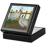 Lavender Guinea Fowl Keepsake Box
