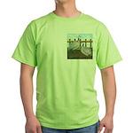Lavender Guinea Fowl Green T-Shirt