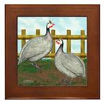 Lavender Guinea Fowl Framed Tile