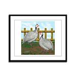 Lavender Guinea Fowl Framed Panel Print