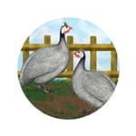 "Lavender Guinea Fowl 3.5"" Button (100 pack)"