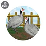 "Lavender Guinea Fowl 3.5"" Button (10 pack)"