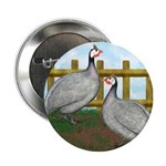 "Lavender Guinea Fowl 2.25"" Button"