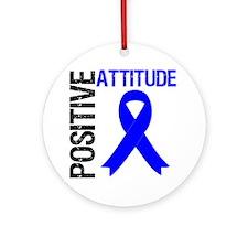 Colon Cancer Attitude Ornament (Round)