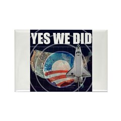 Yes We Did Global Rectangle Magnet