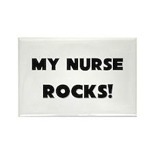 MY Nurse ROCKS! Rectangle Magnet