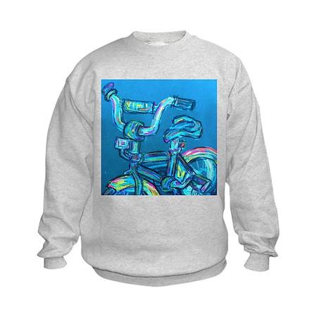A Blue Bike Kids Sweatshirt