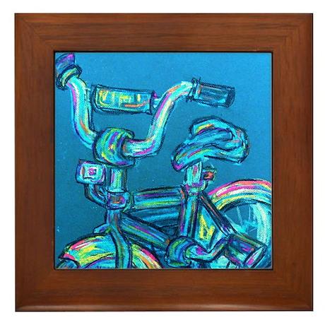 A Blue Bike Framed Tile