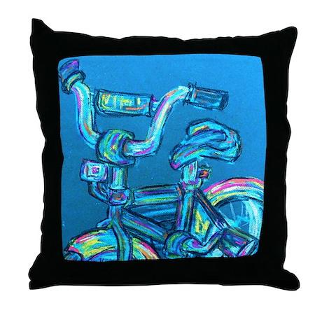 A Blue Bike Throw Pillow