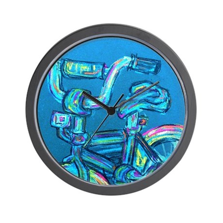 A Blue Bike Wall Clock