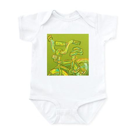 A Green Bike Infant Bodysuit